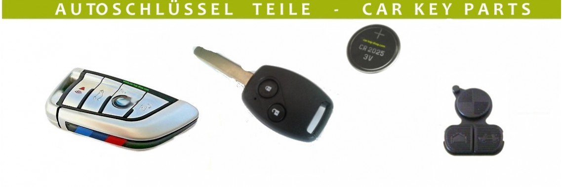 Car keys and key parts