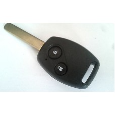 2-button remote car key housing Honda with transpoder place