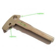 Key blade B10D emercency key blank for Mercedes Benz V