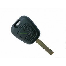 Key housing 2-buttons Peugeot with VA2 key blade