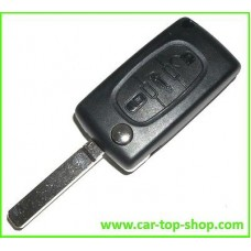 Peugeot 3-button flip key housing