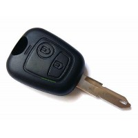 2-button housing and NE73 key blank for Peugeot key