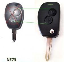 Conversation kit to flip key 2-buttons NE73 blade Renault Dacia