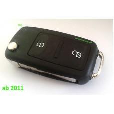 2 Tasten SKODA Klappschlüssel Gehäuse neu ab ca.BJ >09 1tlg. Schlüssel LED vorne