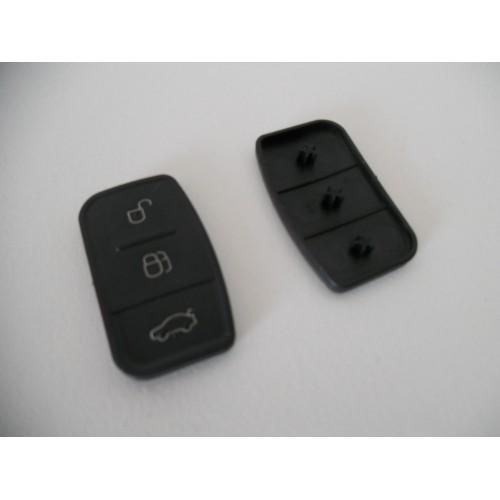 Schlüssel Reparatur 3-Tasten Gummi Key-Pad Ford Mondeo Fiesta Focus S C-Max clé