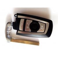 4-button key housing BMW F Series smart key silver