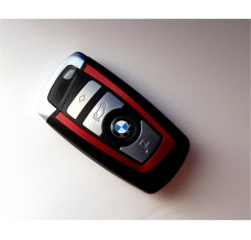 4-button key housing BMW F Series smart key RED