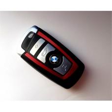 4-button key housing BMW F Series smart key RED