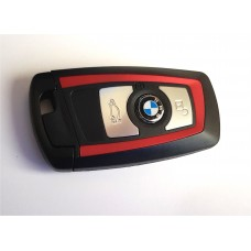 3-button key housing for BMW F series smart key red