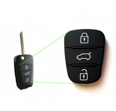 Buttons rubber for Hyundai Kia flip key with 3-buttons