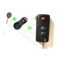 Remote conversation kit to flip key Jeep Dodge Chrysler keys (type C)