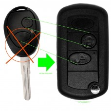 2-button flip key conversation set Land-Rover type 2 Discovery Defender MG